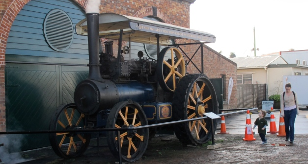 steam traction engine at MOTAT entrance