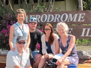 Ailsa, Ian (kneeling)Greg, Kora & Margaret